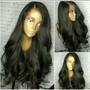Human hair lace front wig 24inches